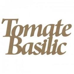 "Support Médium ""Tomate Basilic"" L 58 CM X H 30 CM"