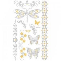 Planche Tatoo Chic Décoration de Peau Bijoux-Pendentifs Loisirs  Beauté Tatouages Ephémères (9 tattoos)