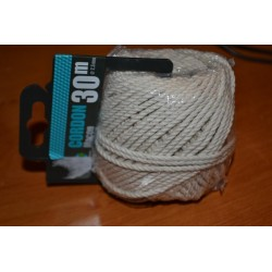 Ficelle cordon en coton naturel 30 m