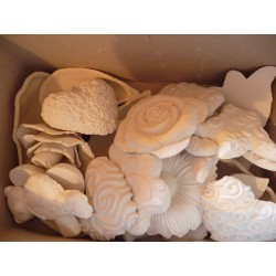 Plâtre poudre (plâtre léger) blanc pour moulage, 1Kg