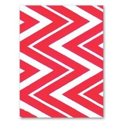 """Feutrine imprimée Chevron Rouge """"Hot Pink"""" (vendue à l'unité) (1,5 mm - 30,5 X 22,9 cm )"""