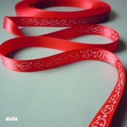 Ruban Satin collection Al&Co Les Oursons Rouge (1m)