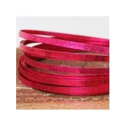 """Fil aluminium  Plat Effet """"Strié"""" Rose Foncé (5 m)  pour bijoux et accessoires"""