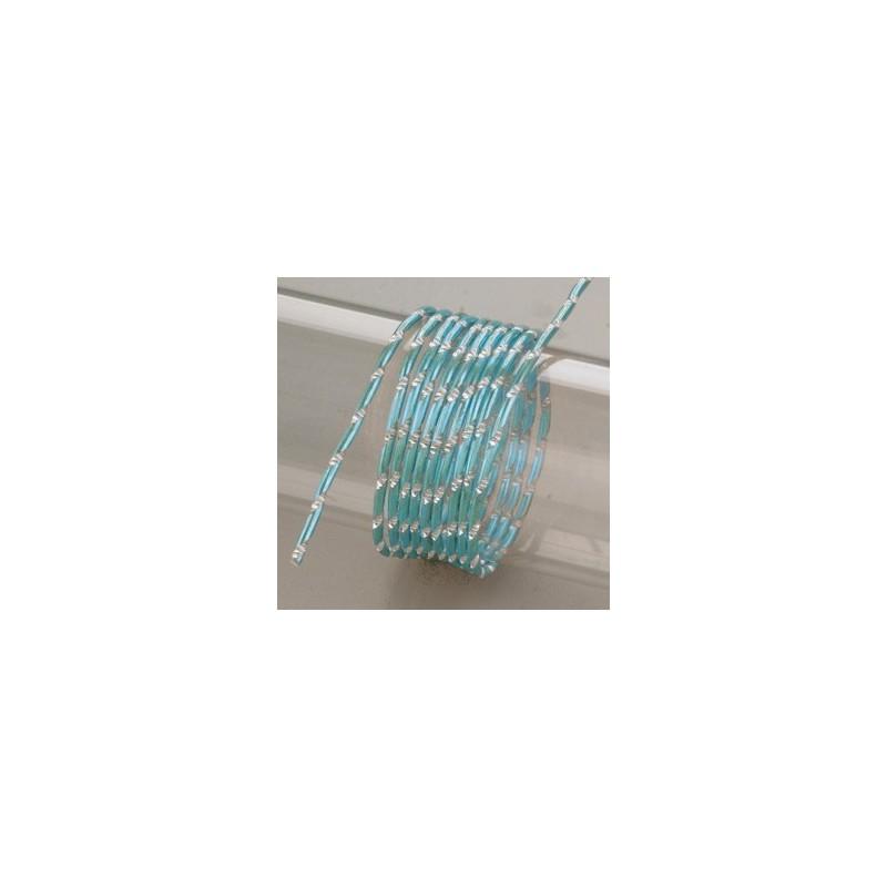 Fil aluminium  Rond Effet Diamanté TURQUOISE (Ø 2 mm)  pour bijoux et accessoires