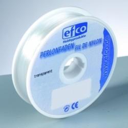 Fil Nylon Transparent pour bijoux, mobiles etc.. (diamètre 0.25 mm, 100m)