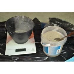 Bol Mélangeur 700 ml plastique souple travaux de poudre de moulage, plâtre, béton