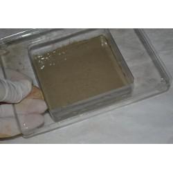 Moule Support Bougie Chauffe-plat forme carré (2 pièces)  Dimensions 7cm x 7cm pour Décorations