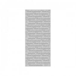 """Planche stickers (10 cm x 23 cm)  Peel Off   """"Vive la Retraite"""" Argenté"""