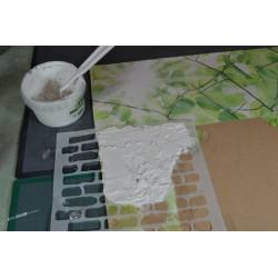 Pochoir Thème Cuisine & Pâtisserie Grand format 59 x 39 cm  pour Décors Muraux ou Textiles