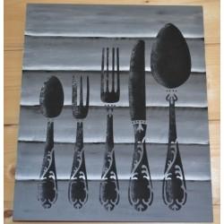 Pochoir Couverts 3 motifs (Format 21 x 30 cm)