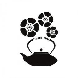 "Pochoir  THE ""Voyage en Chine"" (Format 21 x 30 cm)  4 motifs"