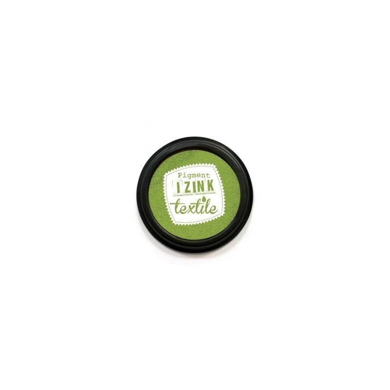 """Encre Spéciale Textile coloris Vert """"Absinthe""""   encreur  Ø : 7 cm"""