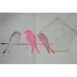 """Encre Spéciale Textile coloris Rouge """"Santal""""   encreur  Ø : 7 cm"""
