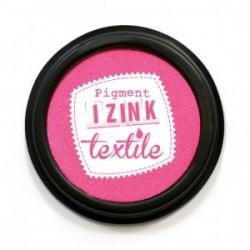 """Encre Spéciale Textile coloris Rose """"Dalhia""""   encreur  Ø : 7 cm"""