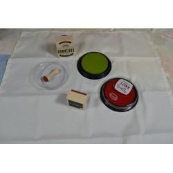 """Encre Spéciale Textile coloris Violet """"Muscat""""   encreur  Ø : 7 cm"""