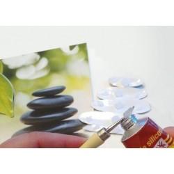 Colle Silicone pour image et technique du 3D, tube avec applicateur 80 ml
