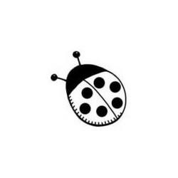 """Tampon Bois impression rectangle en hauteur avec motif et écriture """"Invitation du Chef"""", 4,5 cm x 3.5 cm"""
