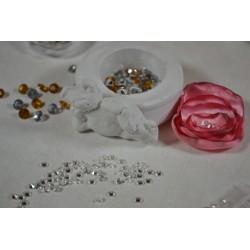 """Strass Hotfix coloris """"Cristal"""" (à utiliser avec Applicateur Hotfix) (sachet 36 pièces) 3mm"""