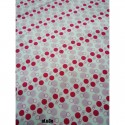 "Tissu Coton Bio collection Al&Co ""Petits Pois"" fond blanc 35x50 cm"