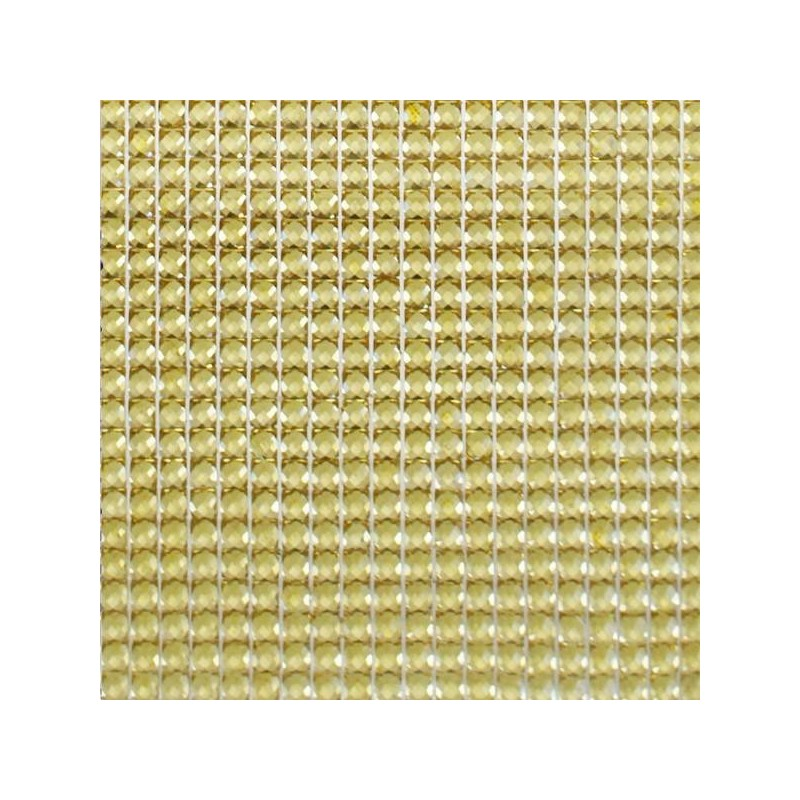 Strass Dorés autocollants - plaque de 400 pièces - 87mm x 87mm