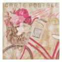 """Serviette en papier motifs Vintage : """"Carte Postale PARIS""""  (vendue à l'unité)"""
