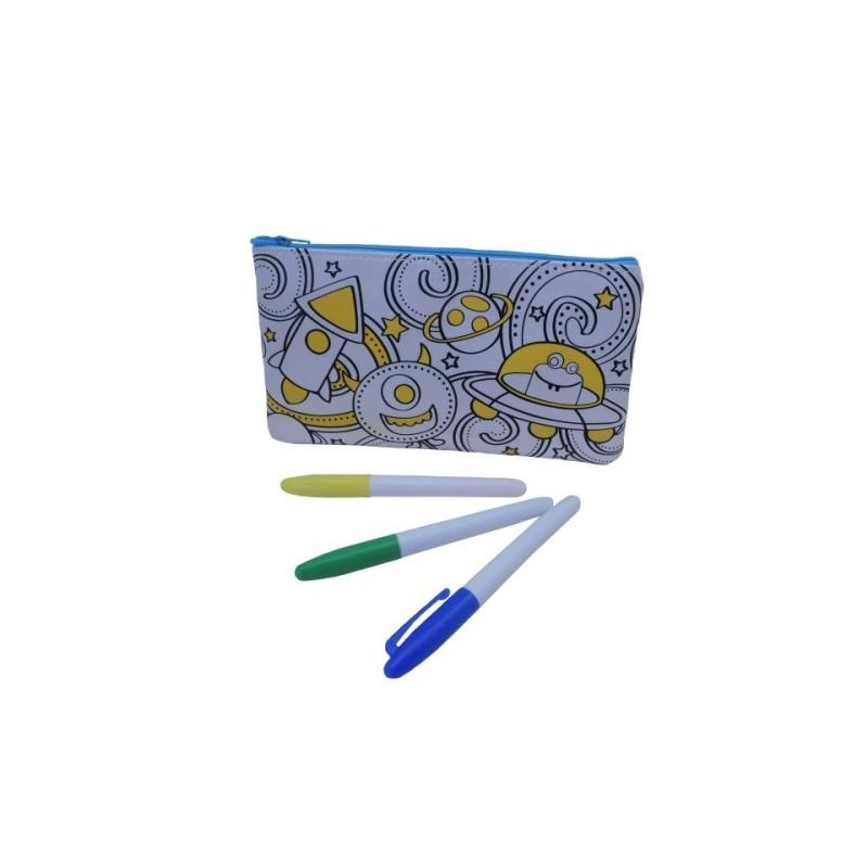 Trousse personnalisable pour  Enfants (kit trousse + feutres) phosphorescente