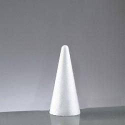 Cône polystyrène H 20 cm - Diam. 9 cm