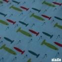 """Tissu Coton BIO collection Al&Co """"Little fish"""" Petits poissons  35x50 cm"""