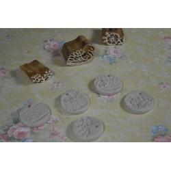 """Tampon  batik indien en bois sculpté à la main Médieval (Collection dans mon Grenier, """"Je Chine pour Vous.."""")"""
