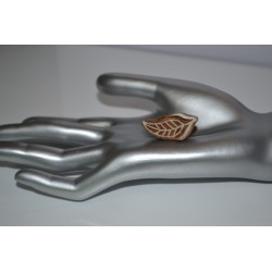 """Tampon  batik indien en bois sculpté à la main """"Feuille"""" (Collection dans mon Grenier, """"Je Chine pour Vous.."""")"""