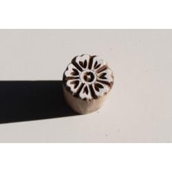 """Tampon  batik indien en bois sculpté à la main """"FLeur"""" (Collection dans mon Grenier, """"Je Chine pour Vous.."""")"""
