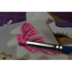 Pochoir Home Déco BOULES de NOEL Arabesques  10 cm x 15 cm