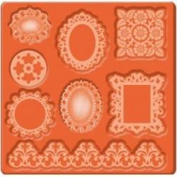 """Moule Motifs Miniatures """"Ornements & Cadres"""" pour Mod podge ou plâtre, pâte, béton, colle chaude pailletée .."""