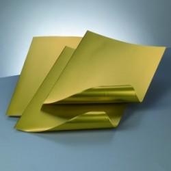 Feuille Aluminium Couleur Or  30 x 20 cm (1 pièce - épaisseur : 0.15mm)