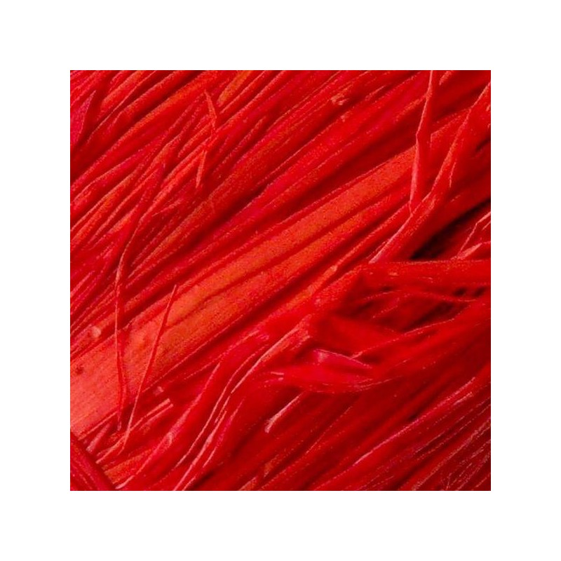 Raphia Naturel Ruban   Coloris Rouge (50 gr)