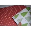 """Papier Scrap Double Esprit de NOEL """"Sapins & Etoiles"""" 30.5 X 30.5 CM -  1 feuille avec imprimé Recto Verso"""