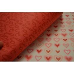 """Papier Scrap Double Esprit Romantique""""Coeurs Love """" 30.5 X 30.5 CM -  1 feuille avec imprimé Recto Verso"""