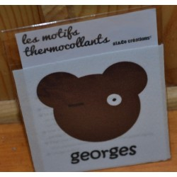 "Motif thermocollant  à appliquer ourson ""Georges"""