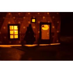 Bougie Led   Ø  environ 38 mm x 35 m,  à piles avec lumière vacillante blanche (vendue à l'unité )