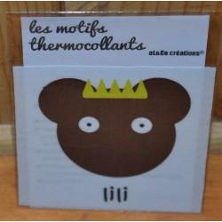 """Motif thermocollant  à appliquer ourson """"LiLi"""""""