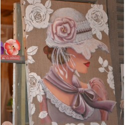 Image 3 D  Vase de Coquelicots  30 x 30 (vendue à l'unité) pour tableau technique du 3D
