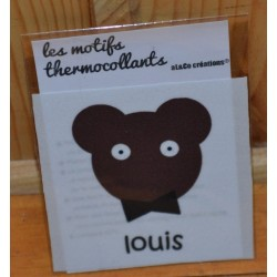 "Motif thermocollant  à appliquer ourson ""Louis"""