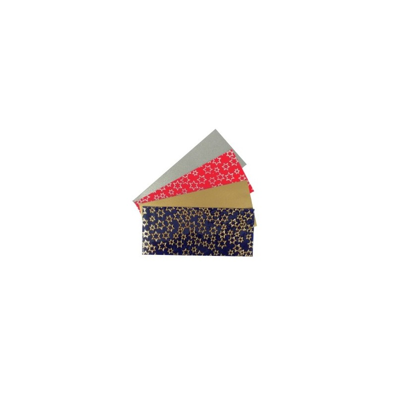 Planche de cire à découper pour décorer des bougies (4 pièces une unie, une à motifs étoiles)