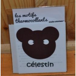 """Motif thermocollant  à appliquer ourson """"Célestin"""""""