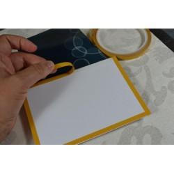 """Papier Feuille de calque """"Coeurs Argentés"""" 21 x 29.7 cm   (vendue à l'unité 1 feuille), 1 face imprimée"""