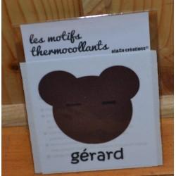 """Motif thermocollant  à appliquer ourson """"Gérard"""""""