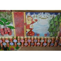 """Serviette  en papier motifs """"NOEL, Calendrier de l'Avant""""   (vendue à l'unité)  30 x 30 cm"""