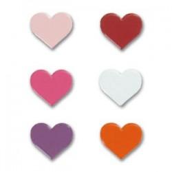 """Attaches parisiennes Assortiment  """"Coeurs Multicolors""""  (20 pièces)"""