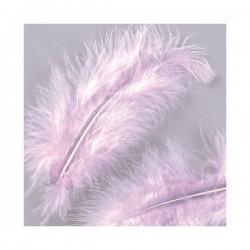 "Plumes Rose Clair ""Lilas"" (Sachet environ 22 pièces) taille 10 cm environ"