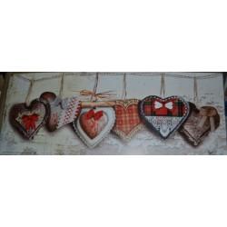 """Image 3 D   Image style """"Montagne Heart """" 20 x 50 (vendue à l'unité) Tableau à réaliser selon la Technique du 3 D"""